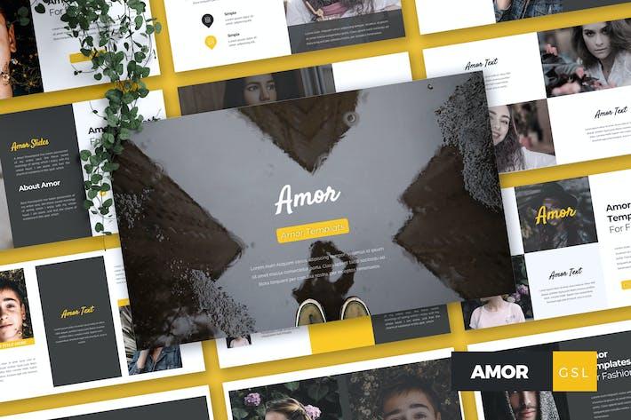 Thumbnail for AMOR - Fashion Google Slides Template