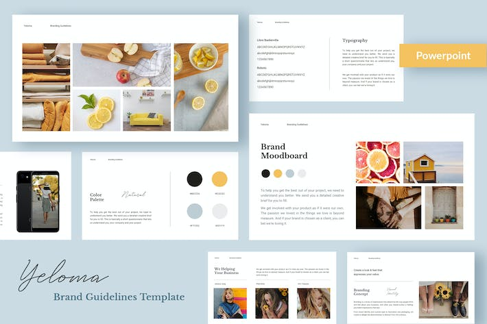 Thumbnail for Yeloma - Branding Presentation Template Powerpoint