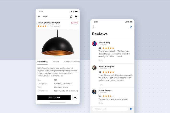 Thumbnail for Modern Furniture Mobile App UI Kit