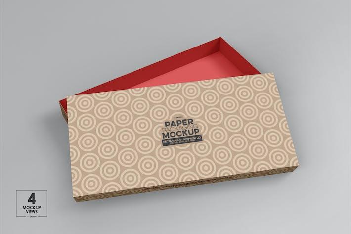 Thumbnail for Medium Rectangle Paper Box&Lid Mockup