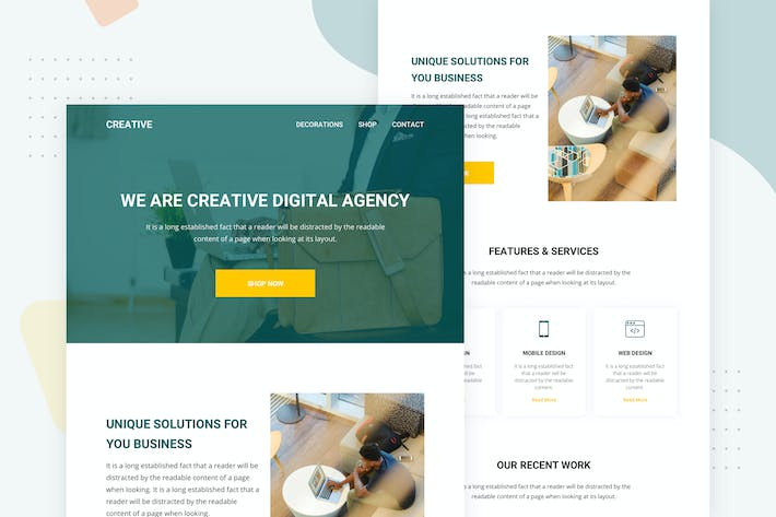 Thumbnail for Creative Agency - Email Newsletter