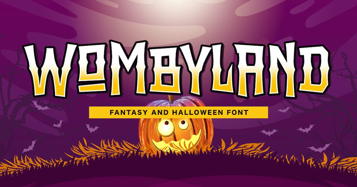 Download Wombyland - Fantasy Game Font by yipianesia
