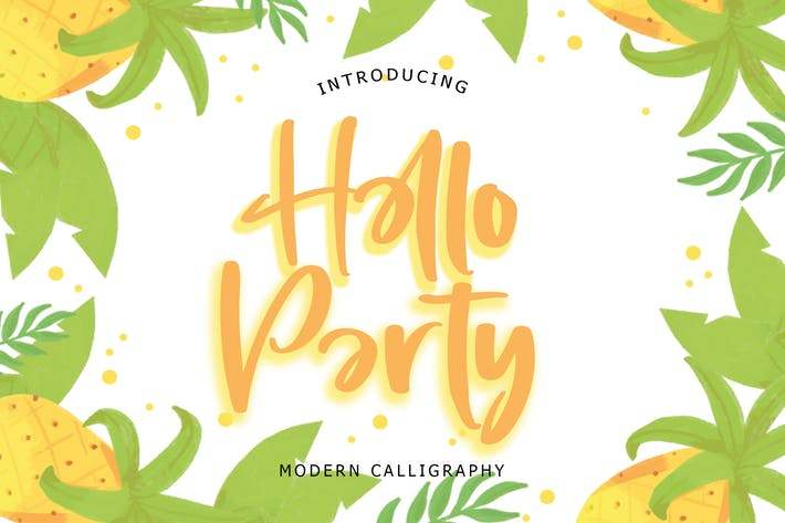 Hello Party Modern Calligraphy