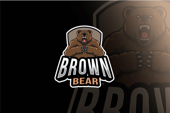 Thumbnail for Brown Bear Esport Logo Template