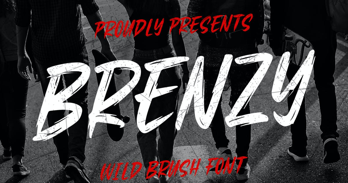 Download Brenzy - Wild Brush Font by Blankids