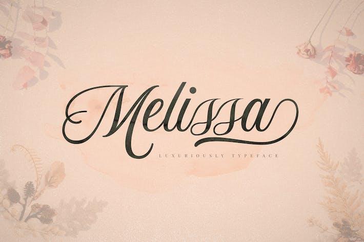 Thumbnail for Melissa Script Font