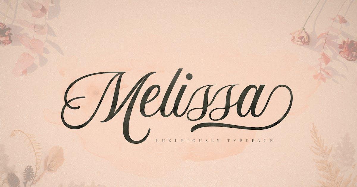 Melissa Script Font by aqrstudio