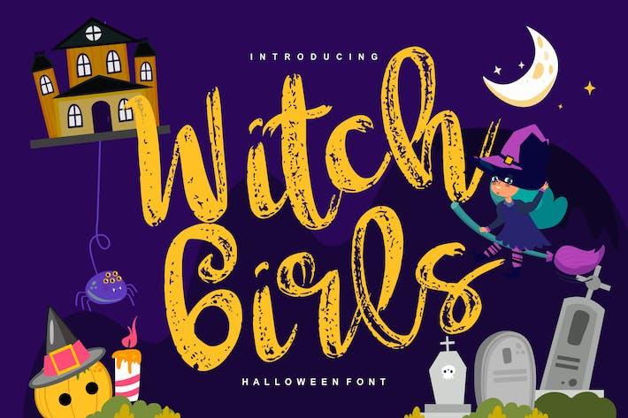 Thumbnail for Sorcière filles | Script Halloween Font