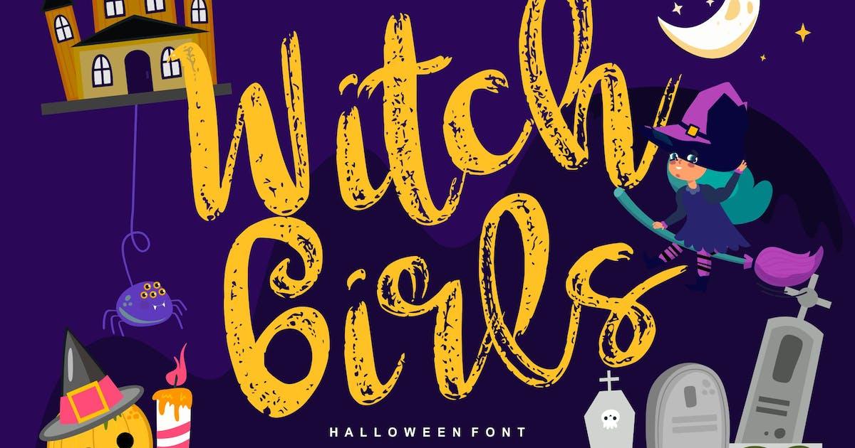 Download Witch girls   Script Halloween Font by Vunira