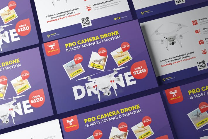 Thumbnail for Drone Product Showcase A5 Business Flyer