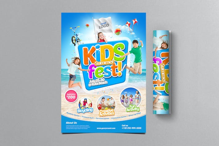 Thumbnail for Kids Summer Fest FLyer