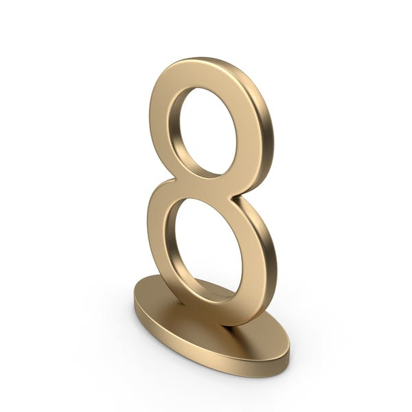 Table Numbers Sign 8