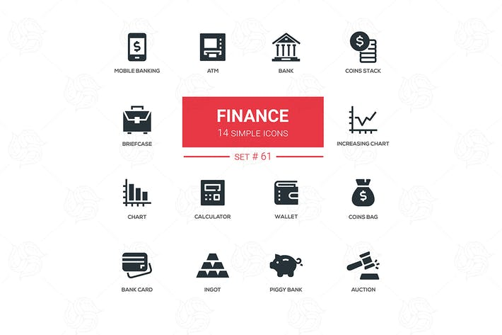 Thumbnail for Business and finance - line design icons set