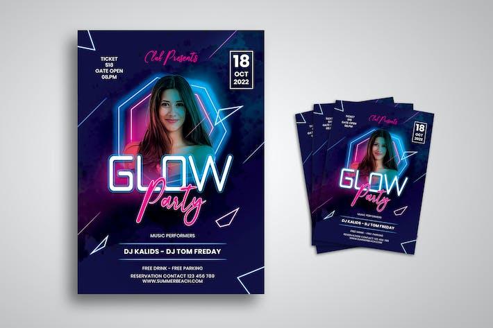 Thumbnail for Glow Female DJ Flyer