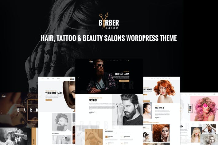 Cover Image For Barber - Hair, Tattoo & Beauty Salons WP Theme