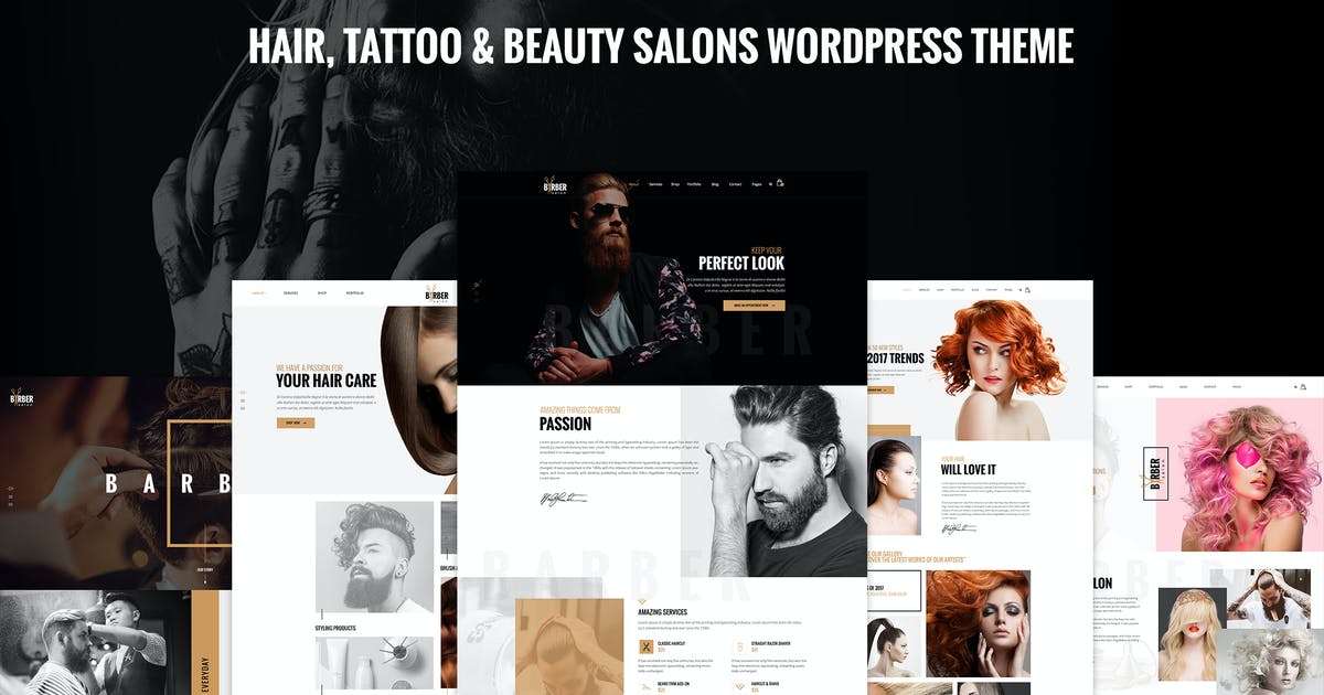 Download Barber - Hair, Tattoo & Beauty Salons WP Theme by ArrowHiTech