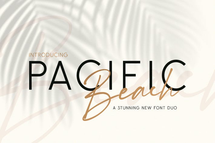 Thumbnail for Pacific Beach Font Duo