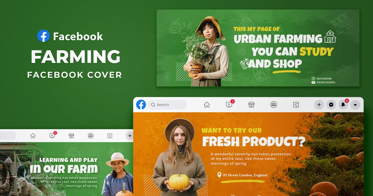 Download Facebook Cover - Farming by SlideFactory