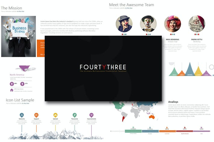 Thumbnail for Fourty 3 - Powerpoint Template