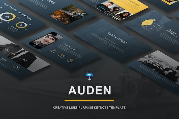 Thumbnail for Auden - Creative Keynote Template