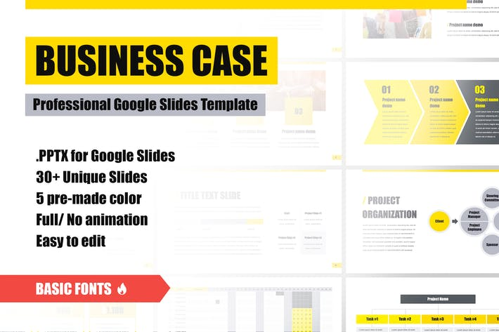 Thumbnail for Business Case Google Slides Template