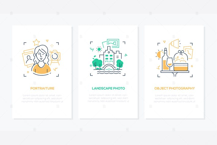 Thumbnail for Photography - line design style banners set