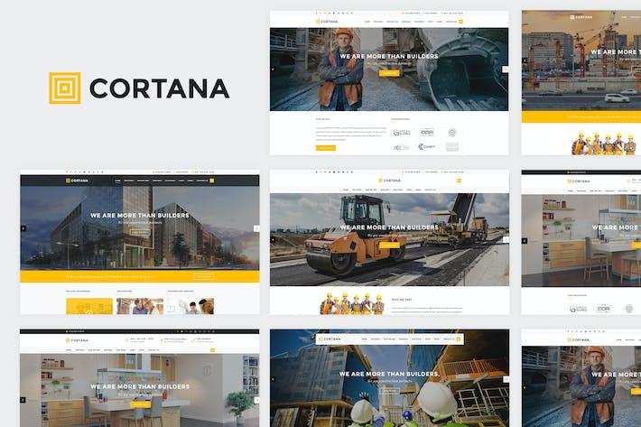 Thumbnail for Cortana - Construction Website Template