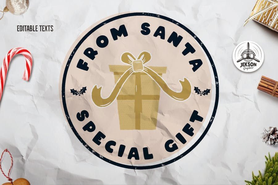 Santa T-Shirt. Christmas Vector Print, Holiday SVG