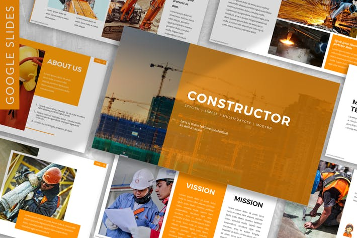 Thumbnail for Constructor - Constructor Google Slide Template