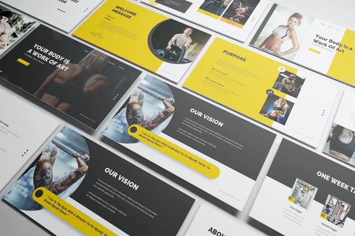 Gym and Fitness Powerpoint Presentation Template