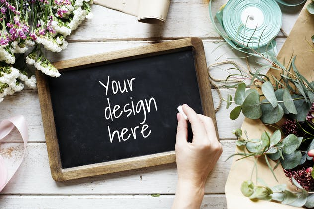 Blackboard Design Mockup