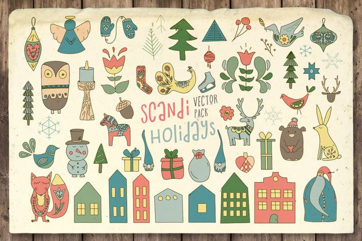 Thumbnail for Scandi Holidays Vector Pack