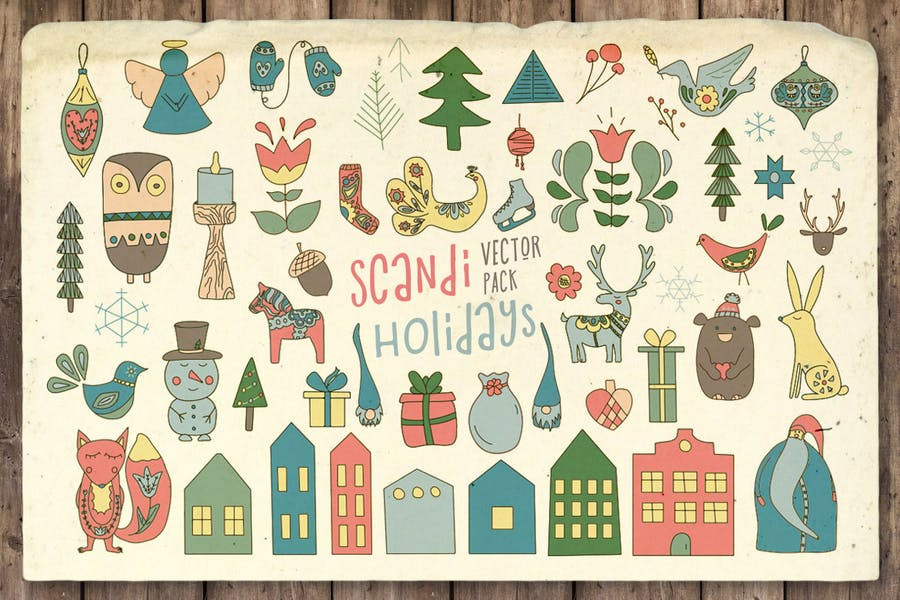 Scandi Holidays Vektor Pack