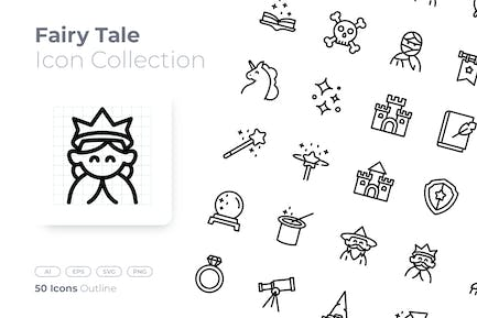 Fairy Tale Outline Icon