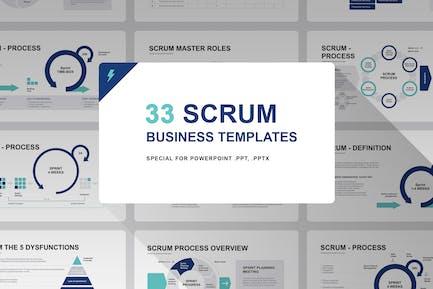 Scrum Model PowerPoint Template