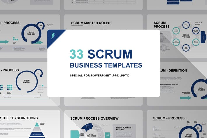 Thumbnail for Шаблон модели Scrum PowerPoint