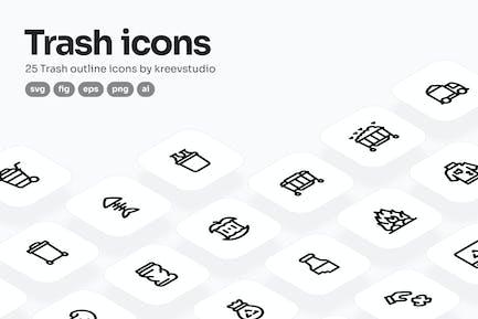 Trash Line Icons