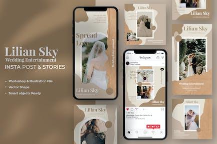 Lilian Sky Wedding Instagram Stories & Post