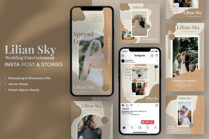 Thumbnail for Lilian Sky Wedding Instagram Stories & Post