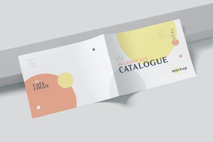 Thumbnail for A4 Horizontal Catalogue Mockups