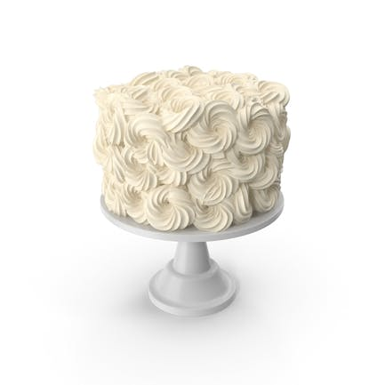 Weiße Blumen-Hochzeitstorte