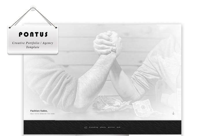 Cover Image For Pontus - Creative Portfolio / Agency Template
