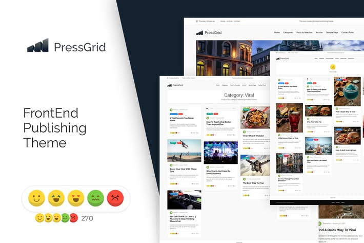 Cover Image For PressGrid Frontend Publish Reaction & Multimedia