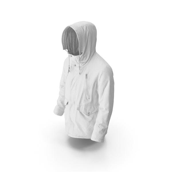 Mens Down Coat White