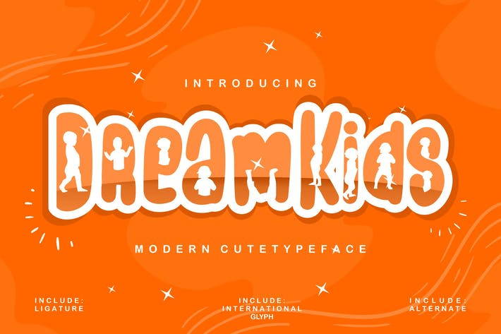Thumbnail for Dream Kids | Modern Cute Typeface