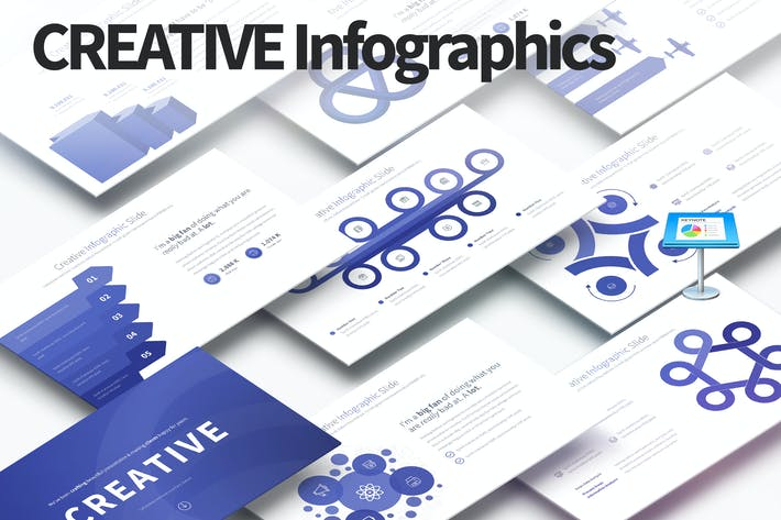 Thumbnail for Creative - Keynote Infographics Slides