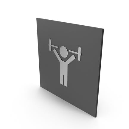 Cartel de la sala de fitness
