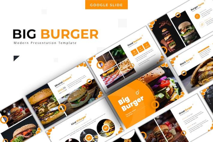 Thumbnail for Big Burger - Google Slides Template