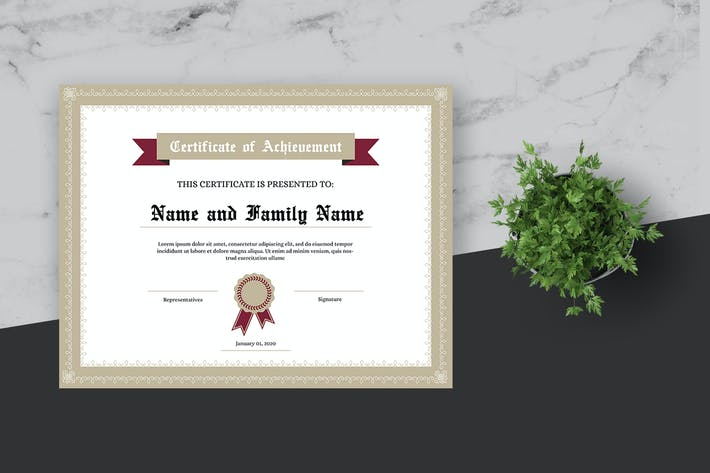 Thumbnail for Decorative Certificate Template
