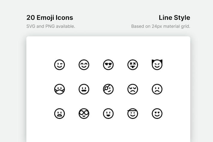 Thumbnail for Emoji Line Icons